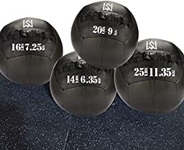 Wall Ball - Medicine Ball for Slamming--Surface Non-Slip Material-Exercise Ball Set for Crossfit-Plyometrics-Core Training and Cross Training Lunge, and Partner Toss(10/14/16/20/25lbs)