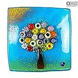 El árbol de la vida - Placa de bolsillo vacío - Original Murano Glass Millefiori