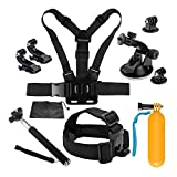 D&F 10-1 Sport Camera Accessories Kit for Gopro Hero 8/7/6/5/4/HERO(2018) SJCAM YI Crosstour AKASO Campark and Other Action Camera