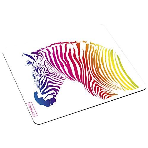 """Wandkings Mousepad/Mauspad mit Motiv\""""Buntes Zebra\"""" - Design wählbar - ideales Geschenk zum Geburtstag, Weihnachten u.v.m."""