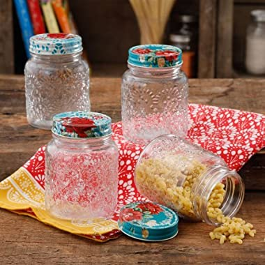 The Pioneer Woman Betsy 16Oz Storage Jars 4Pk, Set of 4