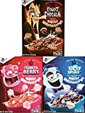 Monster Cereals 2019 3 Pack Count Chocula, Frankenberry, Boo Berry - Back for Halloween!