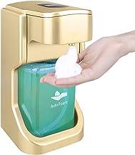 AUTOWT Dispensador automático de jabón espuma sin contacto, 400 ml, bomba de espuma con sensor automático ajustable, opera...