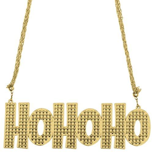 amscan Ho Ho Ho Bead Necklace | Christmas Accessory