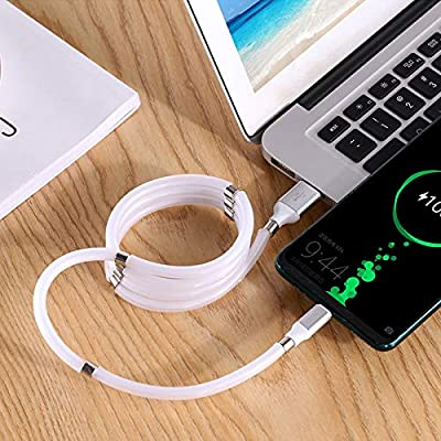 5.9ft-Micro-USB Magnet Storage Data Cable,Self-Coiling Data Cable,Magnetic Cable,Magnetic Charger Cable,Micro USB Cable,USB Micro Cable