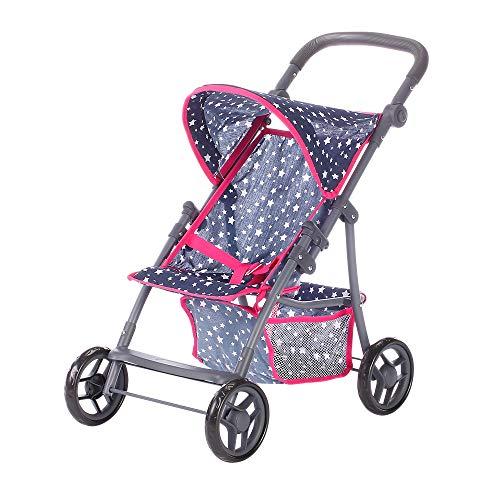 KNORRTOYS.COM Knorr Toys 16806 - Cochecito de bebé para muñecas, diseño de Estrella, Color Azul