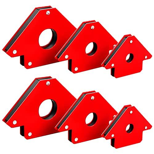 6 Pieces Welding Magnetic Arrow Holder Powerful welding positioner Welding auxiliary tools Metal Working Tools for Megnetic Workshop Soldering Welder Equipment 45, 90, 135 Degree Angle…