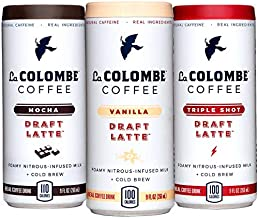 La Colombe Draft Latte Cold-Pressed Espresso Variety 9 oz Can (Mocha/Triple Shot/Vanilla, 12-pack)
