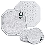 UMIRRO Cute Coasters for Drinks Absorbent | Comprising Silicone Bases and Detachable Felt Inserts, FlexForm Coasters Features Mixed Material and Flexible Design for Tabletop Protection | Set of 4