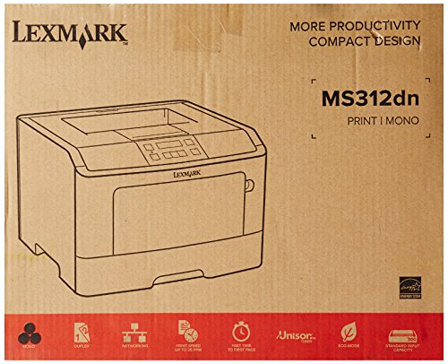 Lexmark 35S0060 MS310 MS312DN Laser Printer, Monochrome, 1200x1200 Dpi Plain Paper Print, Desktop Photo #8