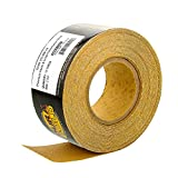 Dura-Gold Premium - 80 Grit Gold - Hook & Loop Backing Longboard Continuous Sandpaper Roll, 2-3/4' Wide, 12 Yards Long - For Automotive & Woodworking Air File Long Board Sanders, Hand Sanding Blocks
