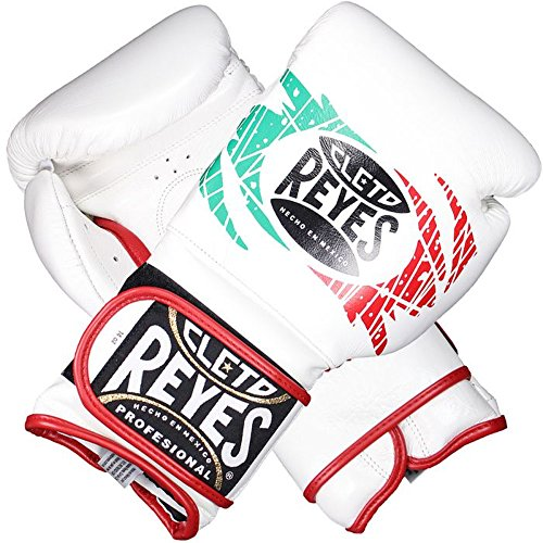 Cleto Reyes Sparring Guanti Bianco/Verde/Rosso (Messico), 16 oz