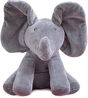 Peek A Boo Elephant Play Hide And Seek Stuffed Toy 38cm Music Elephant Plush Toy Kids Birthday Gift