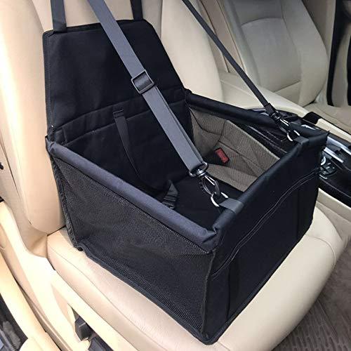 YUEWEI Funda para asiento de coche para perro, hamaca plegable, bolsa de transporte para gatos perros, manta de seguridad para mascotas, bolsa de asiento de coche, color negro