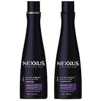 (1) Nexxus KERAPHIX Shampoo & (1) Nexxus KERAPHIX Conditioner - 13.5 oz (400 ml) EACH - Damage Healing - Keratin Protein and Black Rice - For Severely Damaged Hair
