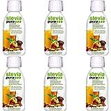 steviapura - Stevia flüssig Tafelsüße 6 x 150ml - OHNE FRUCTOSE - Natürlicher flüssiger Zuckerfreier Zuckerersatz ohne Kalorien, Veganer GMO-freier flüssig Stevia Süßstoff mit Steviolglycosiden aus Stevia Blättern der Steviapflanze