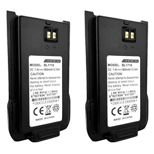 2 x 7.4V 1800mAh Li-Ion BL1719 Battery(s) for HYT TC-508 TC-518 Two-Way Radios