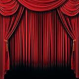 Fun Express Red Curtain Backdrop Banner (6 feet x 6 feet) Party Decor