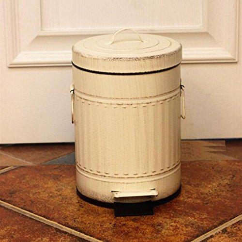 Vuilnisbak Vintage, Iron Art Amerikaanse Woonkamer Keuken Slaapkamer Buiten 5L/12L