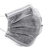 SHINEHUA 50 Stück Schwarz Mundschutz Schwarz Schutz_maske Einweg 3-lagig Mund-Nasenschutz Bandana Halstuch Erwachsene Multifunktionstuch Atmungsaktive (Grau) (Grau)