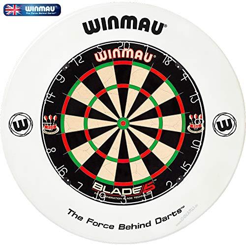 Winmau Dartboard Blade 5 Tunierdartscheibe mit Winmau Surround (Weiß)