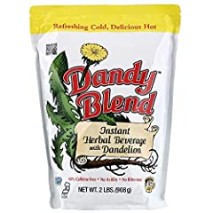 Made from the water soluble extracts of barley, rye, chicory roots, beet roots, and dandelion roots. Has the consistency of instant coffee and can be served hot, cold, or in your favorite recipe. Simply add water and stir. No tea bags, filters, coffe...