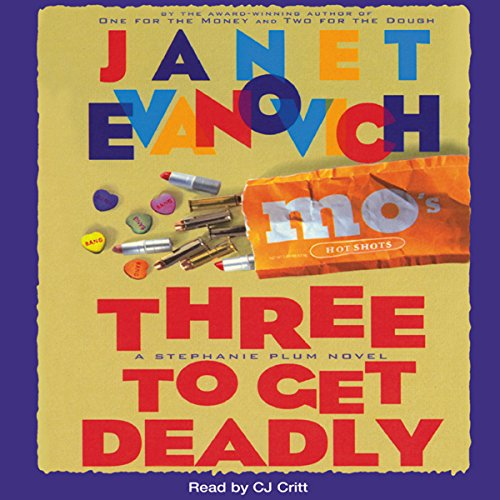 Three to Get Deadly                   By:                                                                                                                                 Janet Evanovich                               Narrated by:                                                                                                                                 C. J. Critt                      Length: 10 hrs and 10 mins     2,407 ratings     Overall 4.5