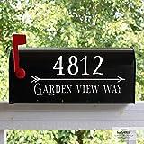 Back40Life - Mailbox Numbers Street Address Vinyl Decal (E-004w)