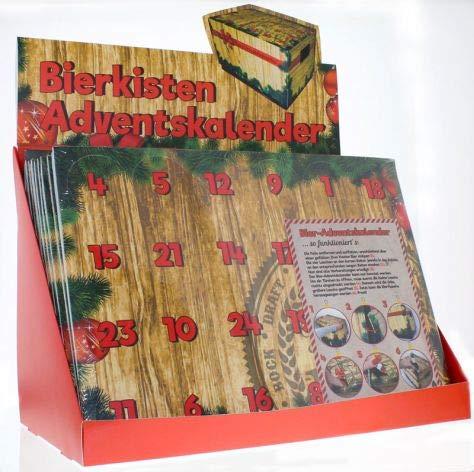 Adventskalender Bierkasten - Aufsatz Weihnachtskalender für Bierflaschen