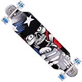 FunTomia Longboard Skateboard Drop Through Cruiser Komplettboard mit Mach1 High Speed Kugellager T-Tool mit und ohne LED Rollen - 9