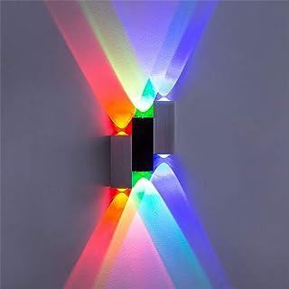 Lightess Moderne LED Wandleuchte Innen Up Down Wandlampe aus Aluminium Wandbeleuchtung für Wohnzimmer Schlafzimmer Flur Tr...