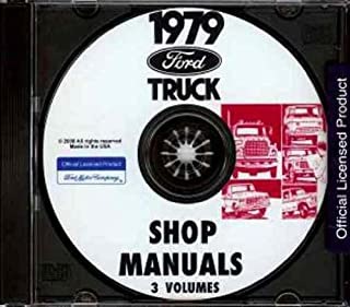 1979 FORD TRUCK & PICKUP FACTORY REPAIR SHOP & SERVICE MANUAL CD - F-100, F-150, F-250, F-350, long and short beds, Super Cabs and Crew Cabs; Bronco 79