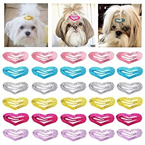 30 Pcs Puppy Cat Dog Hair Clips 1.6″ Pet Hair Barrettes Hair Pins Multicolor Dog Topknot Bows Dog Grooming Bows Pet Supplies Dog Bows Dog Hair Accessories for Dogs or Little Girls