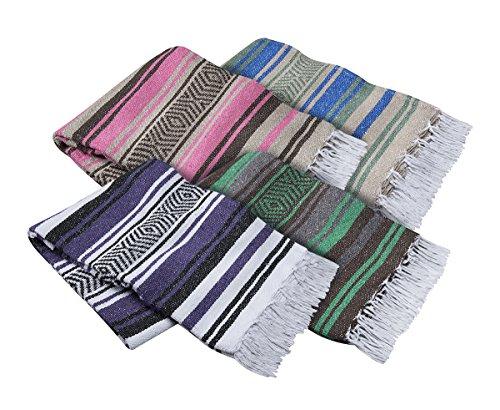 El Molcajete Brand Traditional Mexican Yoga Blanket Serape Assorted Colors