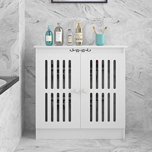 ZXF- Cubierta De Radiador MDF con Diseño De Listones con Acabado Mate Gabinete De Calefacción Parte Superior Lisa para Decoración De Muebles De Dormitorio De Sala De Estar
