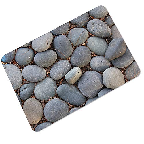 Carpet Big Foot rubberen vloermat 3 mm ultra-dunne Non-auto hek water Non-slip Soundproof Bathroom Entry Pad Tapijt-4.7 (Color : Weed pebbles, Size : 45 * 70cm)