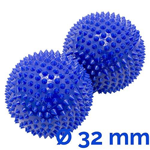 Magnet Akupunktur Akupressur Massage Kugeln | 2er Set | Ø ca. 32mm | blau