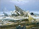 Poster 70 x 50 cm: Das Eismeer von Caspar David