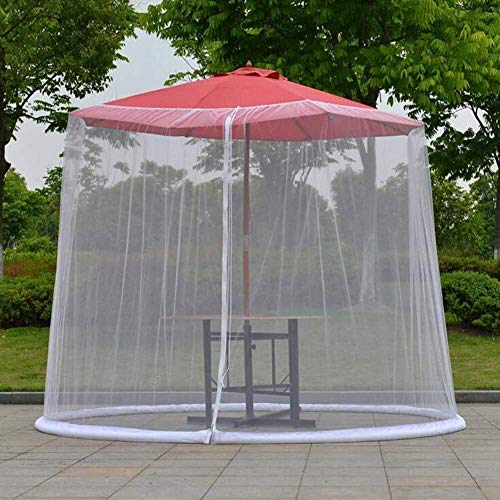NBVCX Decoración de Muebles Sombrilla de Patio Mosquitera Cubierta de sombrilla de jardín al Aire Libre Pantalla de mosquitera Cubierta de sombrilla Gazebo para sombrilla