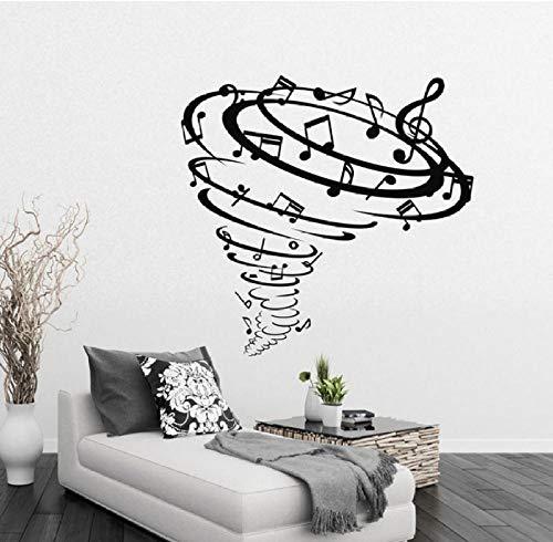 Wandaufkleber DIY Kreative PVC Kunst Aufkleber Whirlpool musik Art Living Decals Familie Wasserdicht Vinyl Geschenk Wohnkultur Büro Schlafzimmer Kinderzimmer 59x57CM
