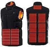 SKYWPOJU Chaqueta con calefacción para Hombres Chaqueta con calefacción con calefacción y batería para Trabajo al Aire Libre Uso Diario (Color : Blue, Size : M)