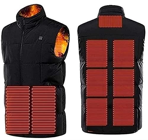 SKYWPOJU Chaleco calentado para mujeres y hombres lavable con carga USB ropa calentada para motocicleta moto de nieve bicicleta equitación caza golf, Unisex, rojo, 7XL