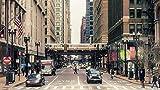 PANDABOOM Rompecabezas 35 Piezas Chicago, Estados Unidos Puzzles para Adultos,Regalo del Día del Padre-35 Pcs