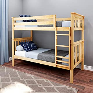 Max & Lily Bunk Bed, Twin, Natural (B06XSN79GW)   Amazon price tracker / tracking, Amazon price history charts, Amazon price watches, Amazon price drop alerts