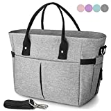 KIPBELIF Insulated lunch bags for women - Large Tote Adult Lunch Box for Women with Shoulder Strap, Side Pockets and...