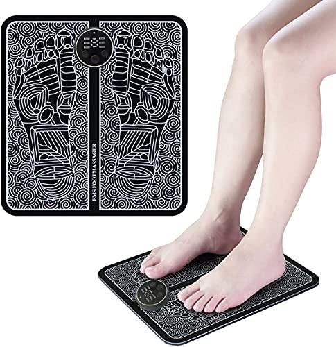Masajeador de Pies Eléctrico EMS, Masaje del Pies para del músculo, Estimulación Muscular Eléctrica, Conveniente Masajeador Muscular con 6 Modos de 9 Intensidad