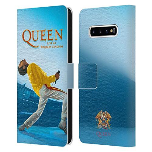 Head Case Designs Licenza Ufficiale Queen Freddie Mercury Live At Wembley Arte Chiave Cover in Pelle a Portafoglio Compatibile con Samsung Galaxy S10+ / S10 Plus