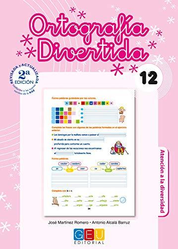 Ortografía divertida 12 / Editorial GEU / 4º Primaria / Mejora la ortografía / Recomendado como apoyo / Con actividades sencillas de repaso