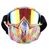 TOBY Tactical Mask Dardos de Espuma Suave Máscara Protectora de Espejo para Nerf - Colorido