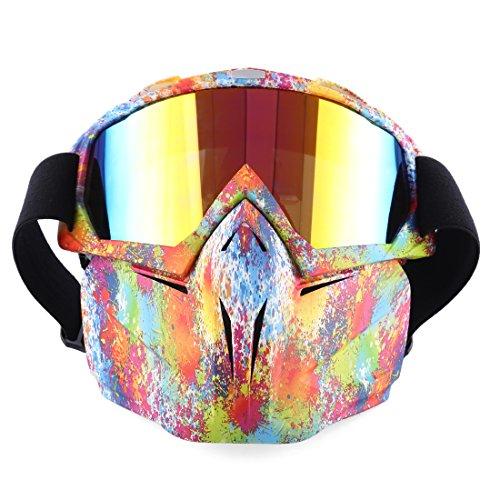 wangxike Taktische Maske, Paintball Masken Full Face Schutzmaske Mit Schutzbrille Abnehmbare, Airsoft Gesichtsmaske für Nerf, CS, Nerf Rival, Halloween Party